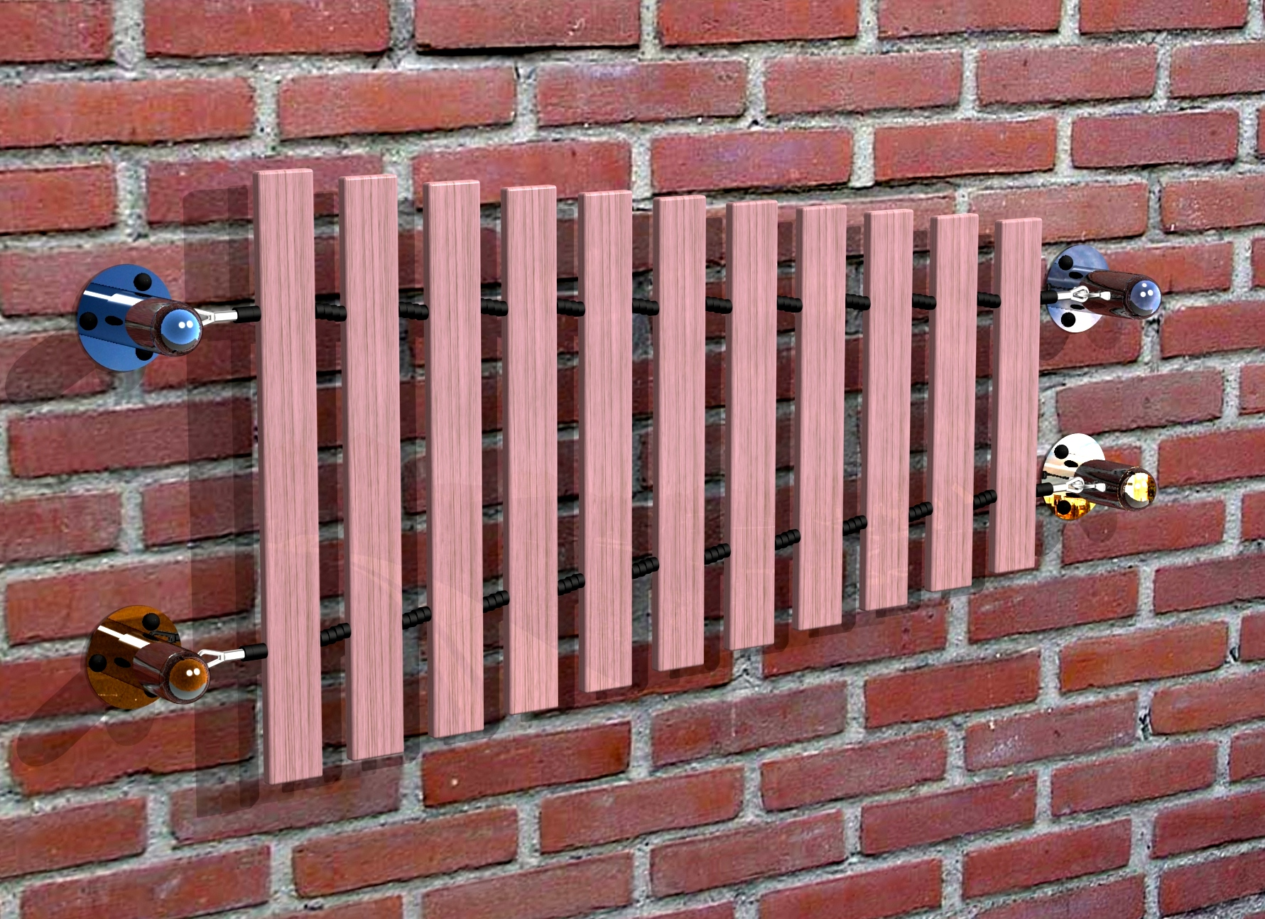Outdoor Wall Mounted Instruments Musical Gardens