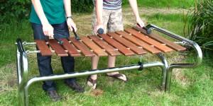 Marimba solid frame install